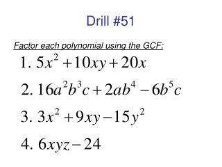 Drill #51