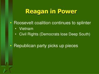 Reagan in Power