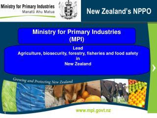 New Zealand�s NPPO