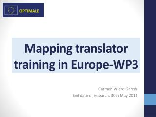 Mapping  translator training in Europe-WP3