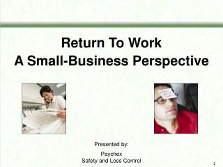 Return To Work A Small-Business Perspective