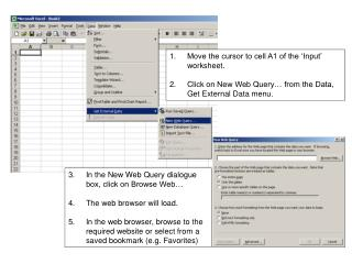 Move the cursor to cell A1 of the 'Input' worksheet.