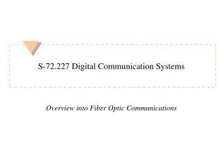 S-72.227 Digital Communication Systems