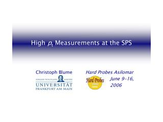High  p t  Measurements at the SPS