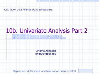 10b.  Univariate  Analysis Part 2