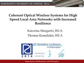 Coherent Optical Wireless Systems for High  Speed Local Area Networks with Increased  Resilience