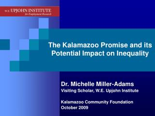 The Kalamazoo Promise and its Potential Impact on Inequality