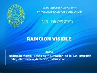 CENTRO DE ESTUDIOS PREUNIVERSITARIOS UNIVERSIDAD NACIONAL DE INGENIERÍA