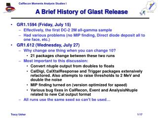 A Brief History of Glast Release