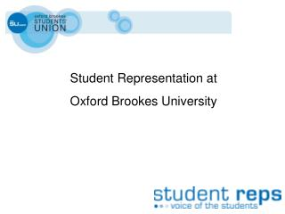 Student Representation at  Oxford Brookes University