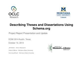 Describing Theses and Dissertations Using Schema