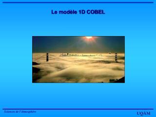 Le modèle 1D COBEL