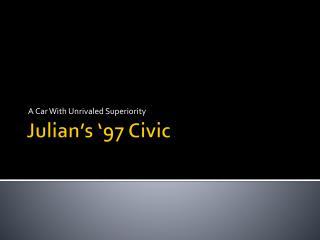 Julian's '97 Civic