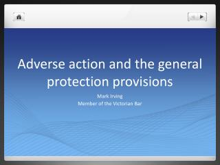 Adverse action and the general protection provisions
