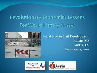 Revolutionary Economics Lessons  For World History  Classes