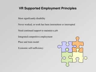 VR Supported Employment Principles