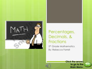 Percentages, Decimals, & Fractions