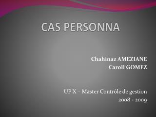 CAS PERSONNA
