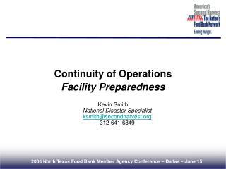 Continuity of Operations Facility Preparedness
