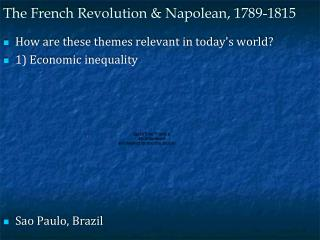 The French Revolution & Napolean, 1789-1815