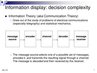Information display: decision complexity
