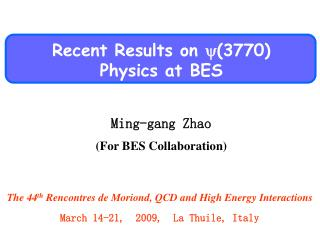 Recent Results on  (3770) Physics  at BES
