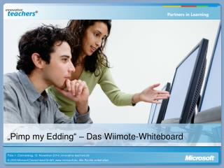�Pimp my Edding� � Das Wiimote-Whiteboard