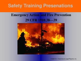 Safety Training Presenations