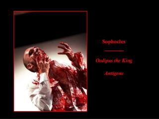 Sophocles Oedipus the King Antigone