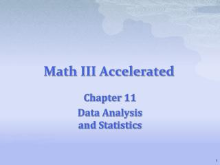 Math III Accelerated