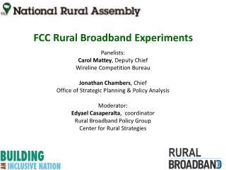 FCC  Rural Broadband  Experiments