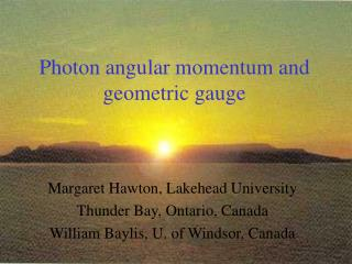 Photon angular momentum and geometric gauge