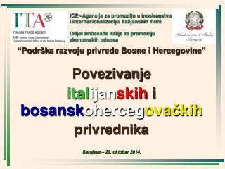 """P odršk a  razvoju privrede Bosne i Hercegovine "" Povezivanj e"