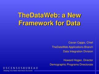 TheDataWeb: a New Framework for Data