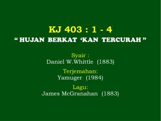 KJ 403  : 1 - 4