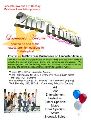 Lancaster Avenue 21 st  Century  Business Association presents