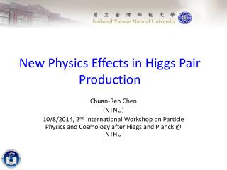 New Physics  Effects in  Higgs Pair Production