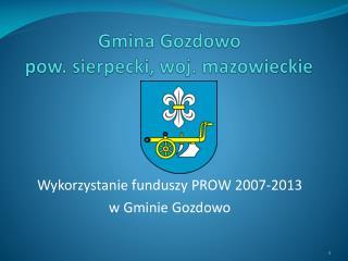 Gmina Gozdowo  pow. sierpecki, woj. mazowieckie