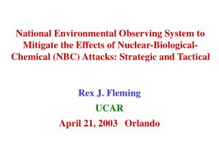 Rex J. Fleming UCAR April 21, 2003	Orlando