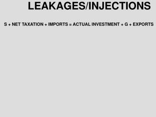 LEAKAGES/INJECTIONS