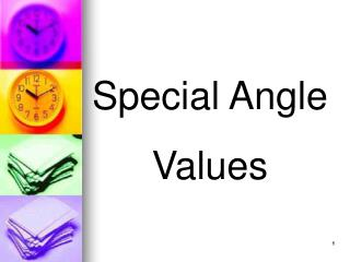 Special Angle Values