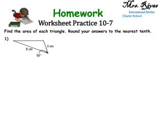 Worksheet Practice  10-7