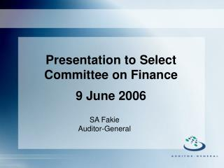 SA Fakie Auditor-General