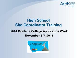 High School Site Coordinator Training