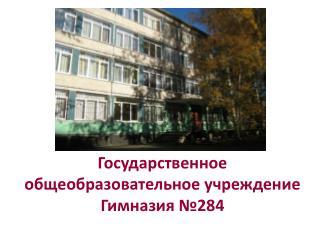Государственное общеобразовательное учреждение  Гимназия №284