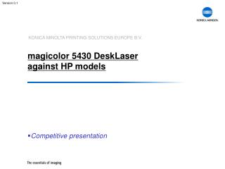 magicolor 5430 DeskLaser against HP models