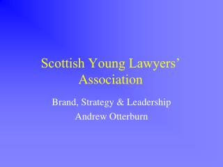 Scottish Young Lawyers' Association