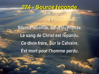 274 - Source féconde