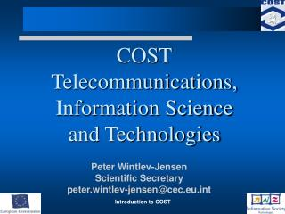 COST Telecommunications, Information Science and Technologies