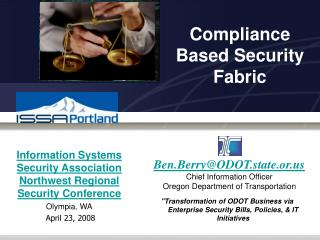 Compliance Based Security Fabric